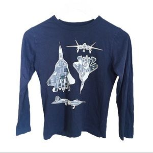 OSH KOSH Space Decal Long Sleeve Tee/Top Blue 10Y